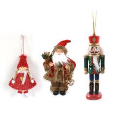 Božični okraski angeli, orašari in lutke