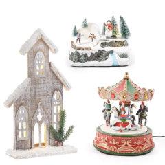 Božične hiše, vasi in cerkve