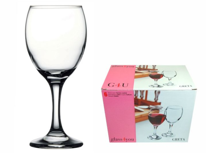 KOZARCI NA STOJALU GLASS4YOU GRETA-IMPERIAL SET 6/1 255 ML