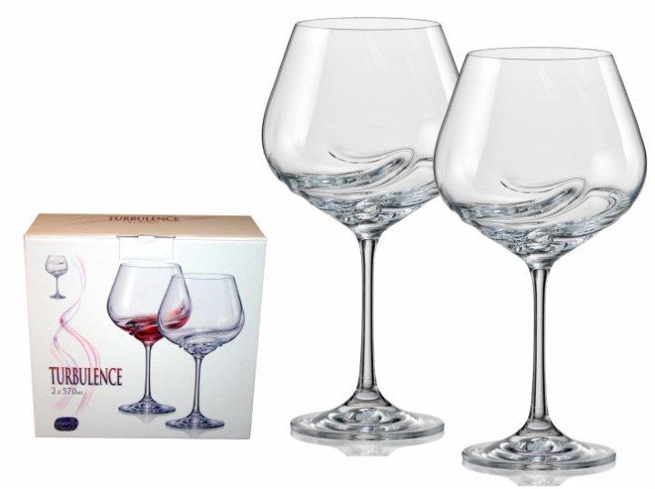 Kozarci za vino 2/1 kristalin - 570 ml