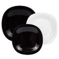 črno beli set krožnikov Luminarc