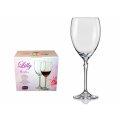 Kozarci kristalin za črno vino - set 6/1 Lilly