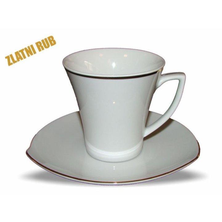 Skodelice za čaj od porcelana, 6 kosov