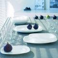 Garnitura krožnikov bele barve, 18 kosov - Carine