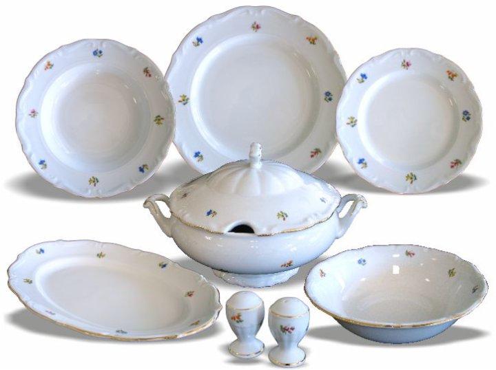 Jedilni servis porcelan 23 delni - cvetlični motiv