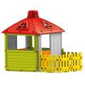 Otroška hiška z ograjo Dolu
