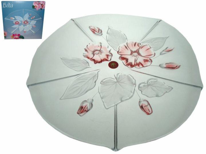 Okrasni krožnik Evita Satin Rose 34 cm
