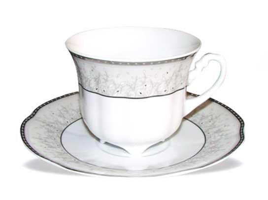 Skodelice za kavo s podstavkom set 6/1 - srebrni dekor