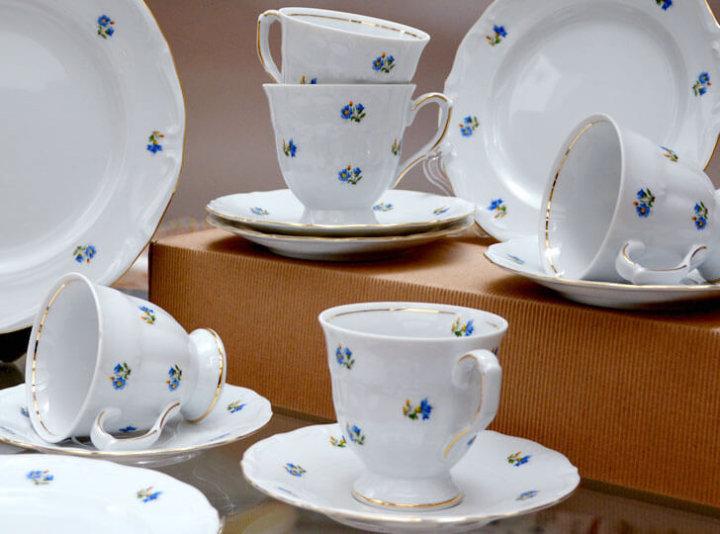 Lepe skodelice za kavo s podstavkom 6 kosov