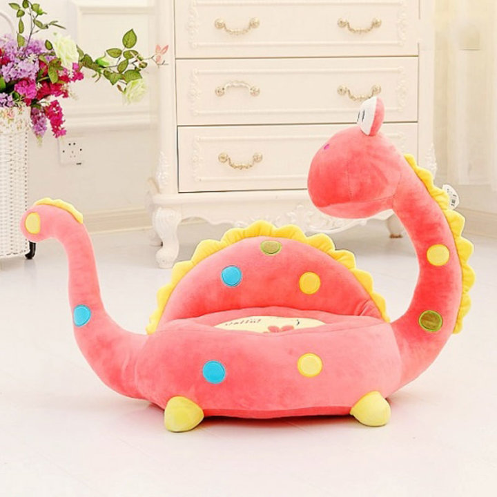 Otroški fotelj - Dinozaver rozi