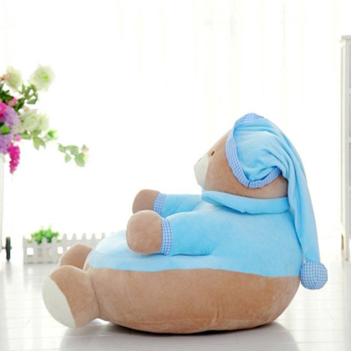 Fotelj otroški medo plišasti v pižami - rozi in modri