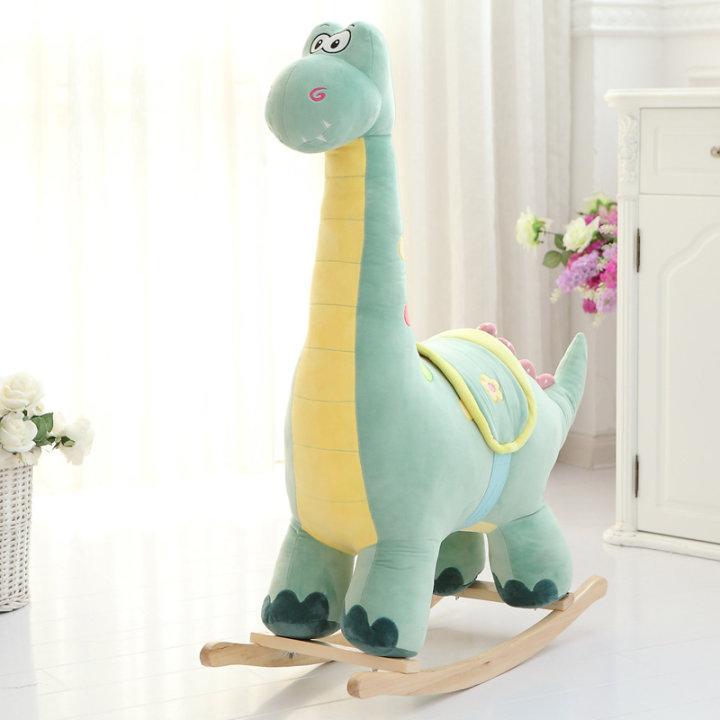 Otroška plišasta gugalnica Dinozaver