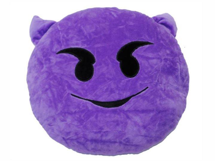 Blazina emoji - Vijoličasti demon 32 CM