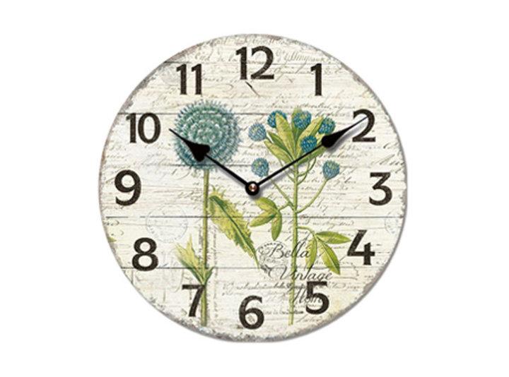 Stenska ura 28 cm Vintage - motiv cvetja