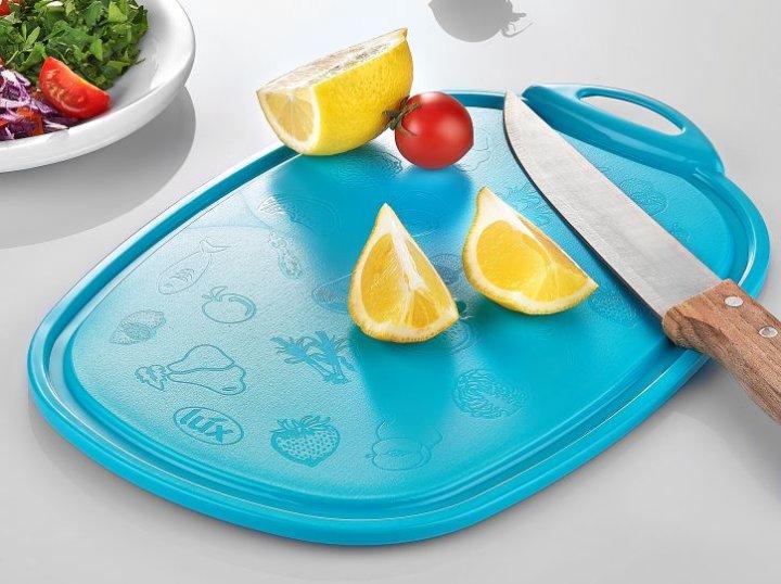 Deska za rezanje za kuhinjo modra