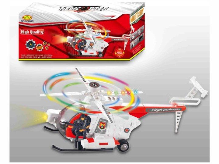 Helikopter s svetlobo in zvokom na baterije