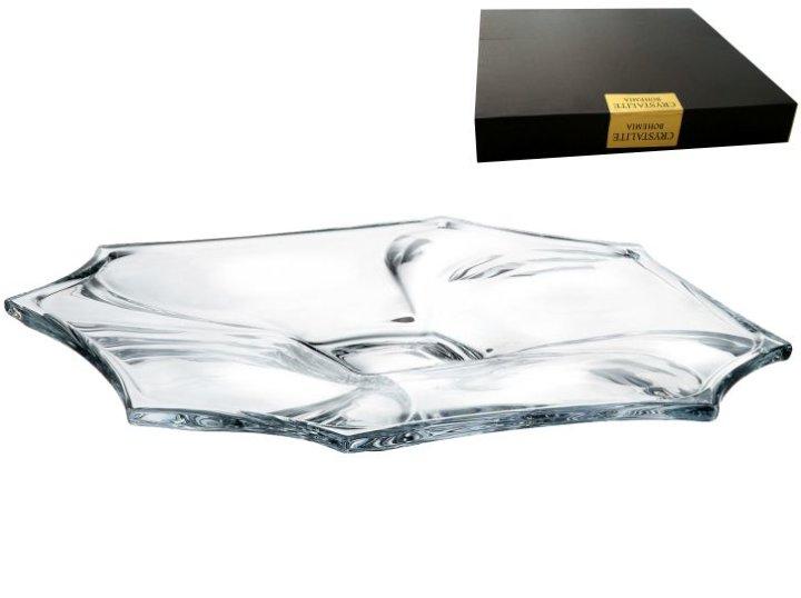 Krožnik na stojalu od kristalina 33 cm