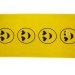 Brisača za plažo 75x150 CM rumena - črni emotikon