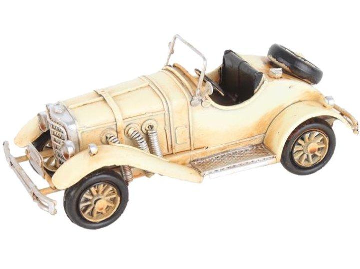 Dekoracija avtomobil Oldtimer 16x6,5x6,5 CM kovinski krem barve