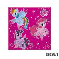 SERVIETE ZA ROJSTNI DAN, SET 20/1 - MY LITTLE PONY, 33x33 CM