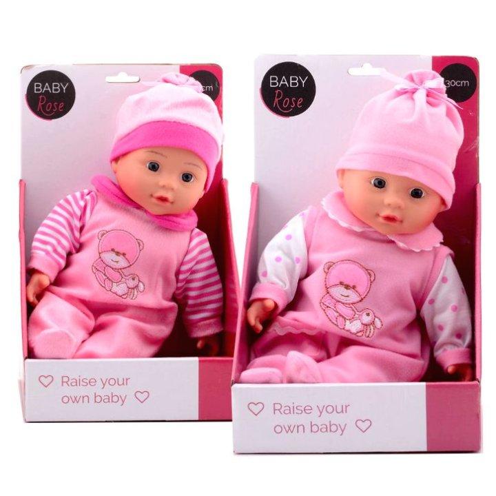 Baby Rose punčka, 30 cm