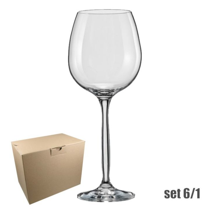 KOZARCI ZA RDEČE VINO SET 6/1 KRISTALIN - 460 ML CHANSON