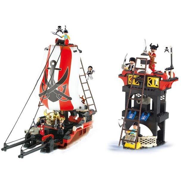 Otroške kocke za zlaganje | Piratska ladja, 379 kosov