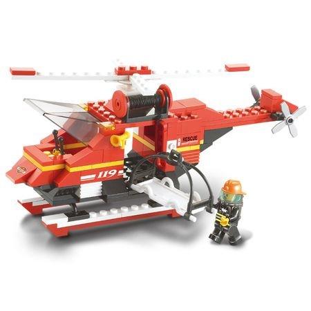 Kocke za otroke gasilski helikopter, 155 kosov