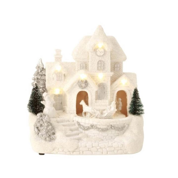 Božična vas z led svetlobo 19x17 cm
