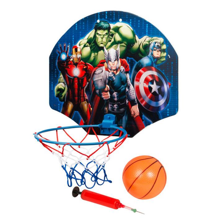 Avengers koš za košarko z žogico in pumpo za žogo