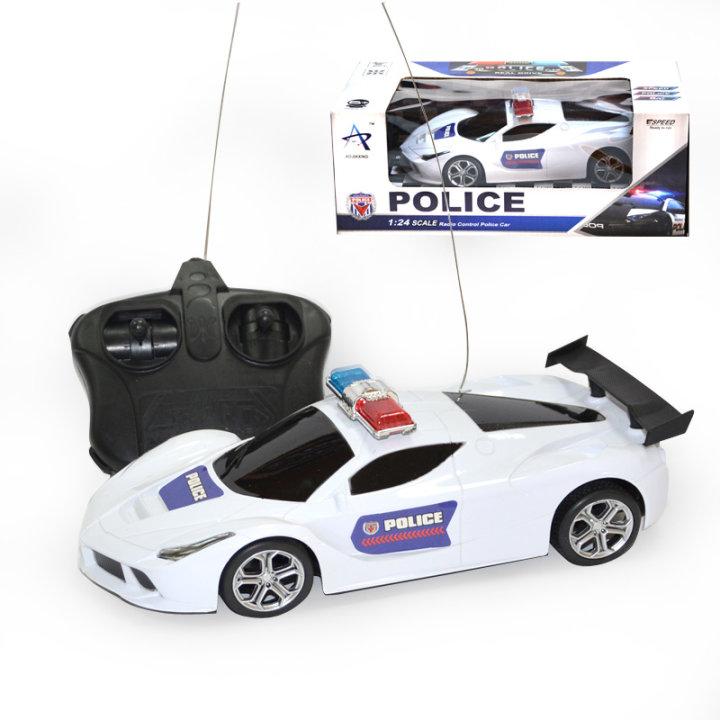 Policijski avto na daljinsko vodenje, bele barve