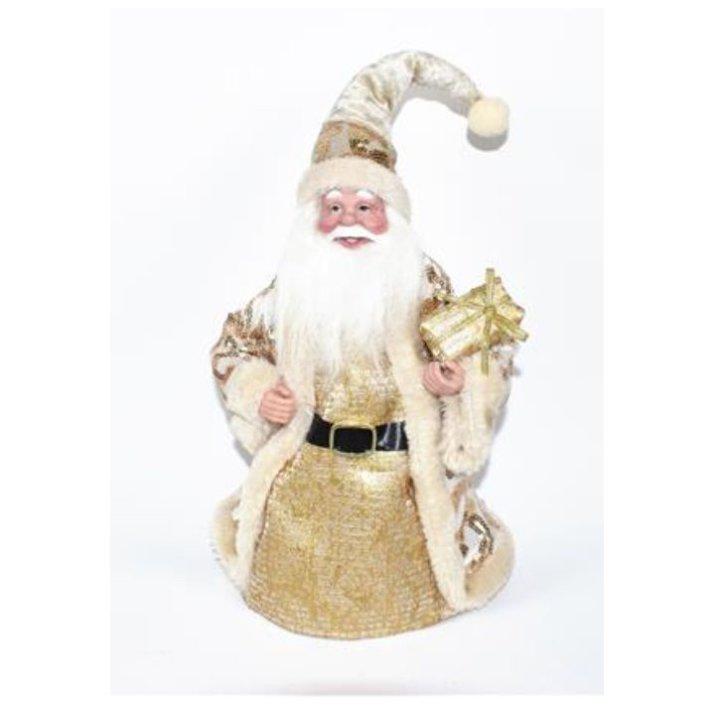 Božiček dekorativni zlato - beli 28 cm