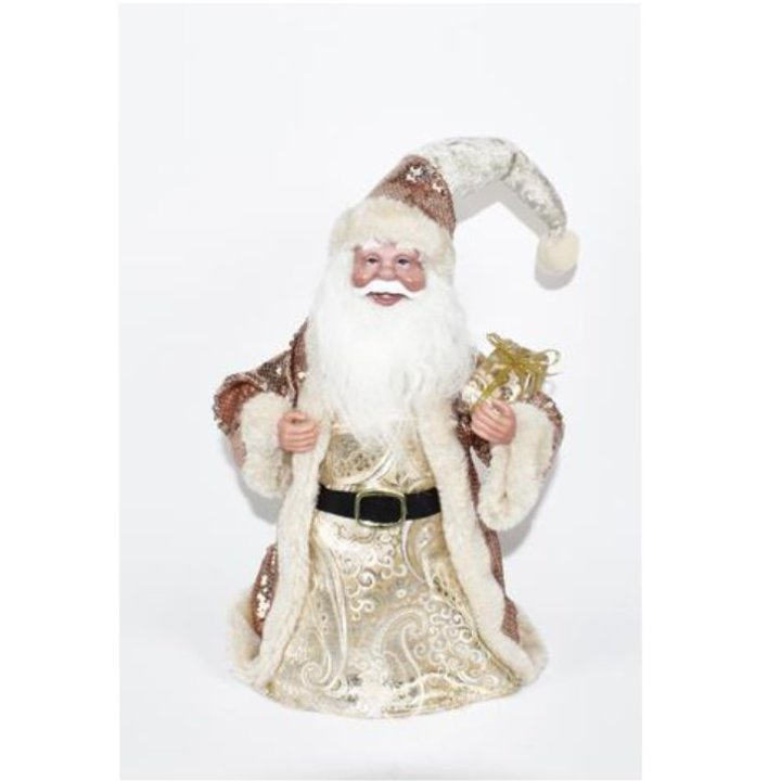 Božiček okrasni zlato beli 28 cm