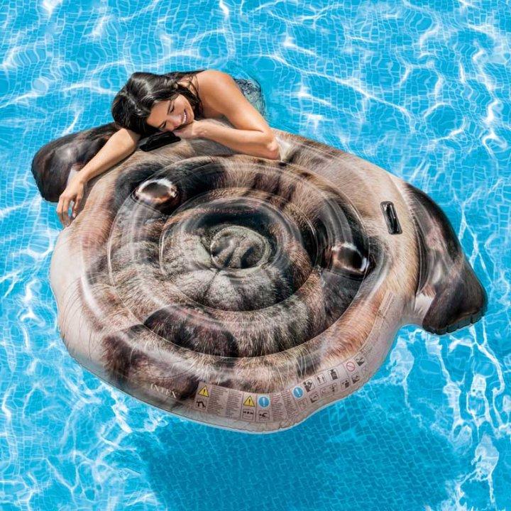 Intex napihljiva blazina Pes Mops - 173x130 cm