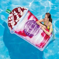 INTEX NAPIHLJIVA BLAZINA JAGODNI SHAKE, BARRY PINK INTEX - 193x163x94 CM