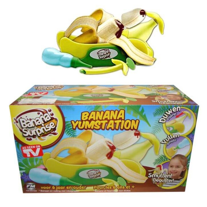 banana iznenađenje - set za serviranje punjenih banana u kutiji