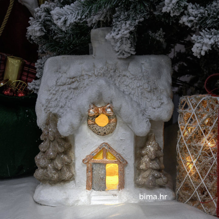 kućica za bor koja svijeti