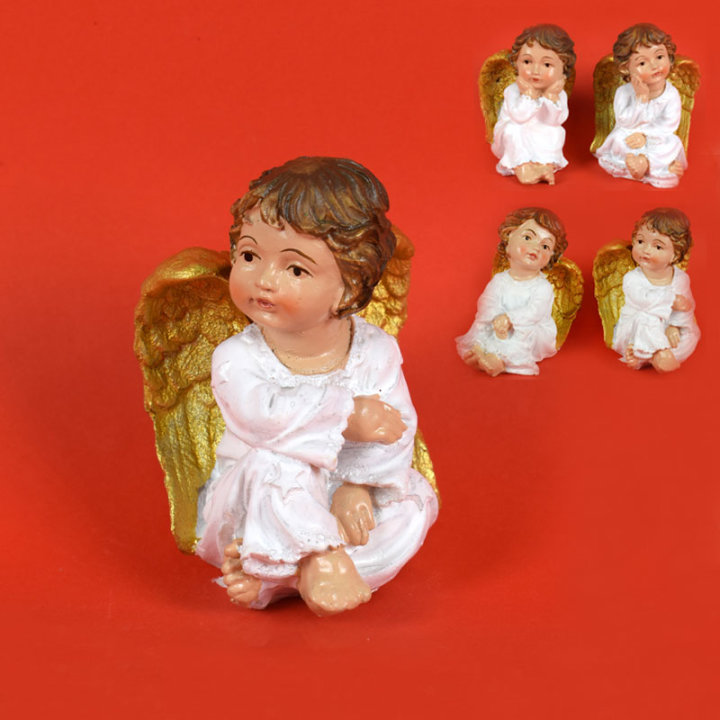 ANGEL FIGURA 8 CM BELO - ZLATI - RAZLIČNI