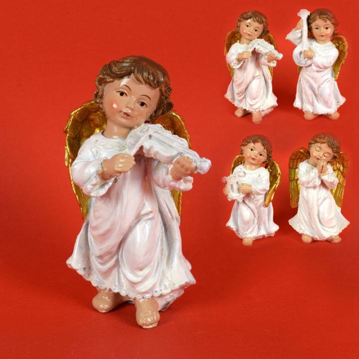ANGEL FIGURA BELO- ZLATA 10 CM- RAZLIČNE