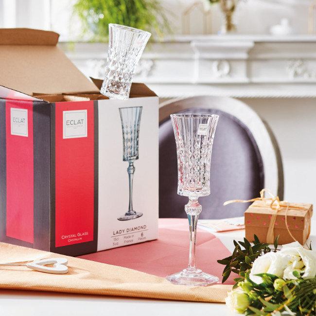 Čaše diamond za šampanjac Luminarc