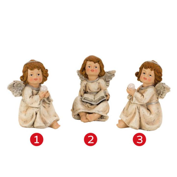 FIGURA ANGEL KREM BARVE 13,5 CM