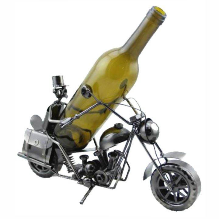 Stalak za vino u obliku motorista