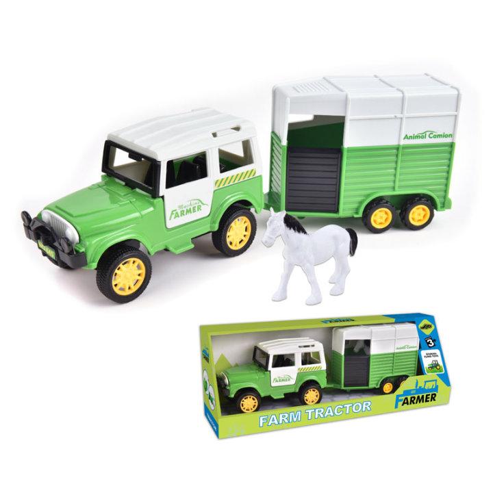 Avto z prikolico za prevoz živali