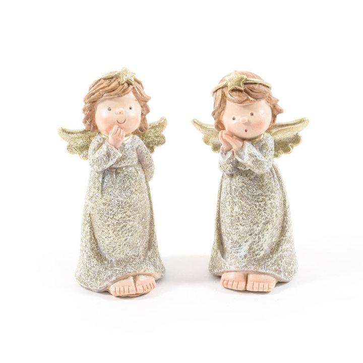 FIGURA ANGEL Z OBLEKICO - 6.5x12.5 CM - SORT