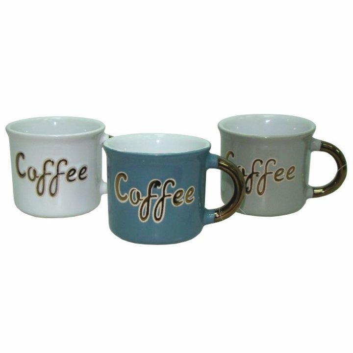 KERAMIČNA SKODELICA V BARVI IN NAPISOM COFFE