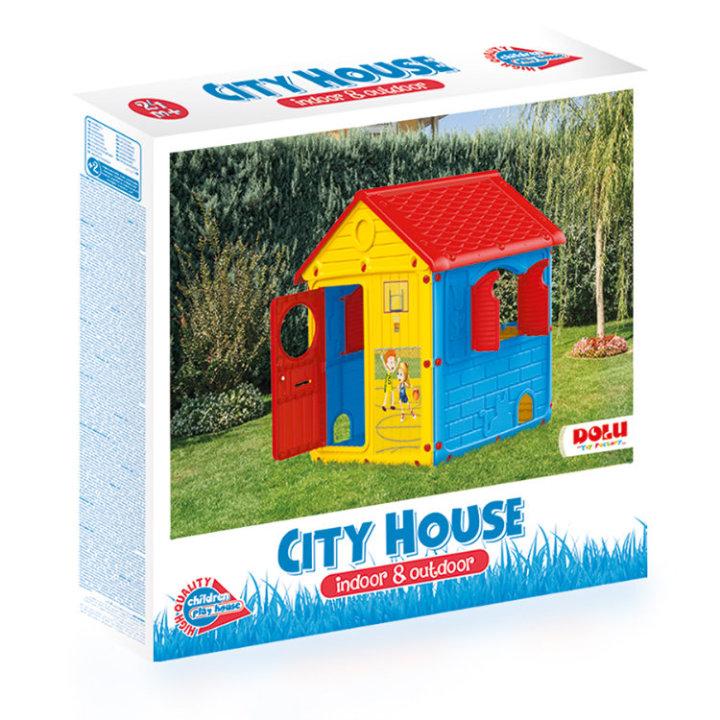 HIŠICA ZA IGRO - CITY HOUSE 132x104x104 CM