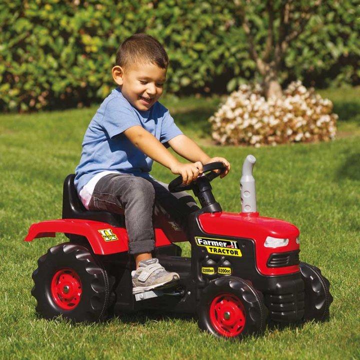 Traktor na pedala - rdeči