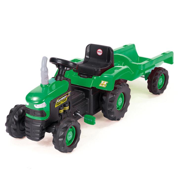 Otroški traktor na pedala s prikolicom