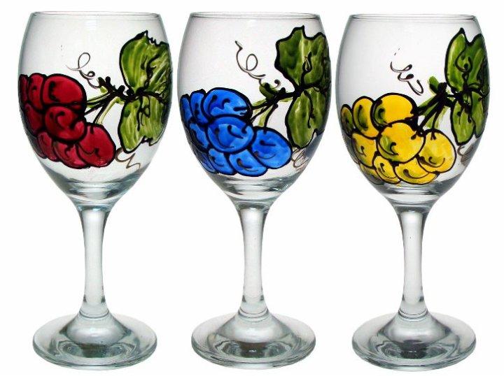 vinske čaše oslikane
